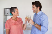 Business team toasting with champagne — Stock Photo