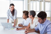 Workers at important meeting — Stock Photo