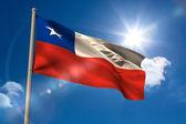 Chile national flag on flagpole — Stock Photo