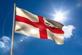 England national flag on flagpole  — Stock Photo