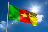 Cameroon national flag on flagpole — Stock Photo
