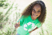 Young environmental activist — Stock Photo