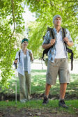 Couple going on a hike — 图库照片