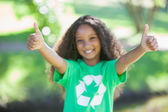 Environmental activist showing thumb up — Stock Photo