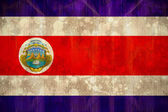 Costa rica flag in grunge effect — Stock Photo