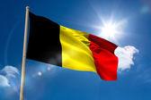 Belgium national flag on flagpole — Stock Photo