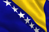 Bosnia herzegovina national flag — Stock Photo