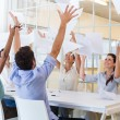 Workers throwing paper — Stock Photo #48234347