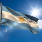 Argentina national flag — Stock Photo #48237293