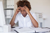 Stressed businessman with his head down — Stock Photo