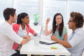 Business people having a meeting together — Stock Photo