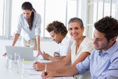 Business team having a meeting — Stock Photo