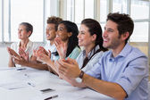 Business people clapping after presentation — Stock Photo