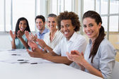 Business people clapping — Stock Photo