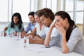 Business people yawning and being bored — Stock Photo