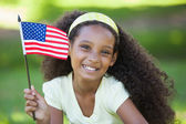 Girl celebrating independence day — Foto de Stock