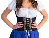 Oktoberfest girl with hands on hips — Stockfoto