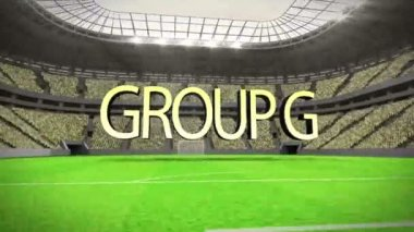 Group G world cup animation — Stock Video