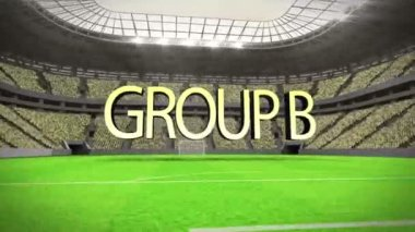 Group B world cup animation — Vídeo de stock