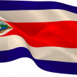Costa rica flag waving — Stock Photo #48240995