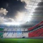 Italian flag against football stadium — Stock Photo #48249857