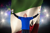 Goalkeeper celebrating win — Stock Photo