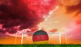 Voetbal in duitsland kleuren — Stockfoto