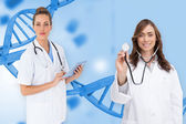 Female medical team — 图库照片