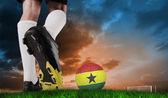 Football boot kicking ghana ball — ストック写真