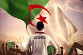 アルジェリア サッカー選手持ち株ボール — ストック写真