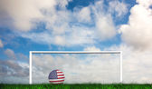 Football in america colours — Stock Photo