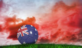 Football in australia colours — Stock Photo