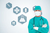 Ambitious surgeon — Stock Photo