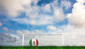 Football in mexico colours — Stockfoto