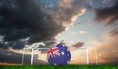 Football in australia colours — Foto de Stock