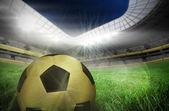 Guld fotboll — Stockfoto