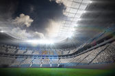 Argentinian flag against football stadium — Stock Photo