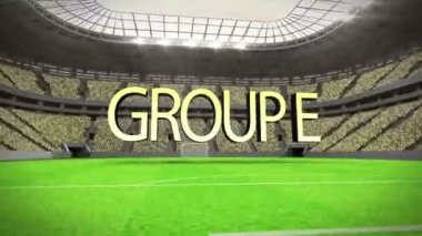 Group E world cup animation — ストックビデオ