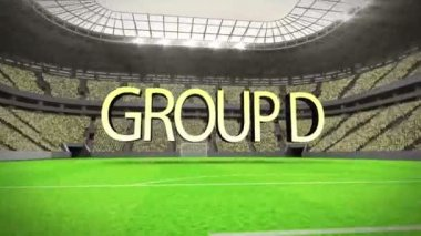 Group D world cup animation — Stock Video