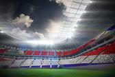 Costa rica flag against football stadium — Stock Photo