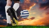 Sfera di calcio boot calci grecia — Foto Stock