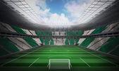 Nigerian flag against football stadium — Stock Photo
