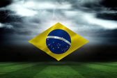 Digitally generated brazilian national flag — Foto Stock