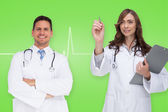 Happy medical team — Stock Photo