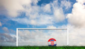 Football in croatia colours — Stok fotoğraf