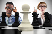 Business people playing chess — Stock Photo
