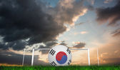 Football in south korea colours — Stock Photo