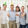 Business team celebrating with champagne — Stock Photo #48326073