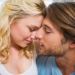 Happy couple relaxing on bed — Stock Photo #48326741