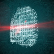 Digital security finger print scan — Stock Photo #48328081
